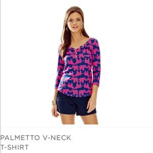 Lilly Puliztzer Palmetto Top. Size L.